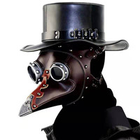 Plague Doctor Punk Masks Cosplay Bird Beak Mask Steampunk Gothic Retro Style Leather Mask Halloween Carnival Easter Prop
