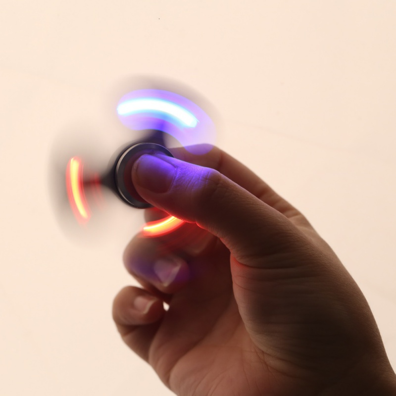With LED lights Colorful Fidget Toy Hand Spinner Toys Kids Rotation Time Long For Autism and ADHD Kids/Adult Funny Anti Stress