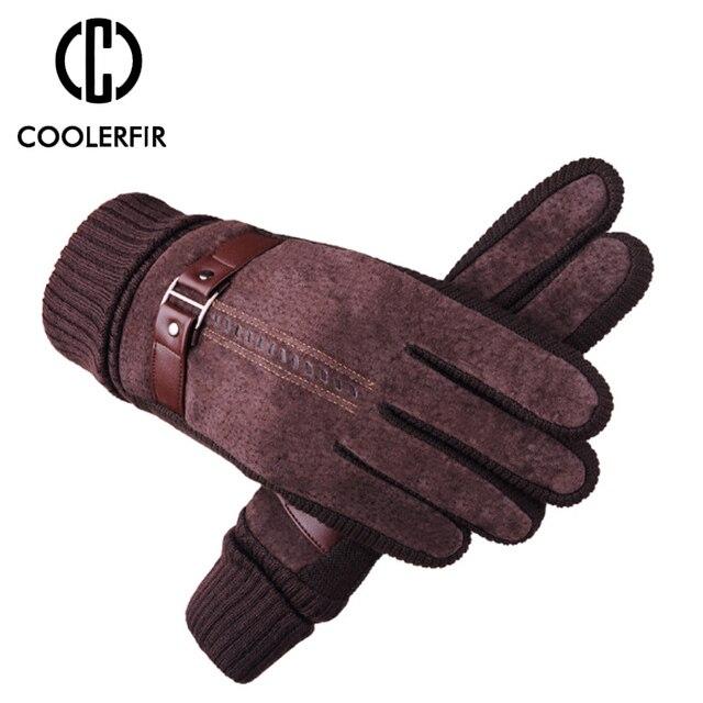 Зимние перчатки мужские из натуральной кожи 4