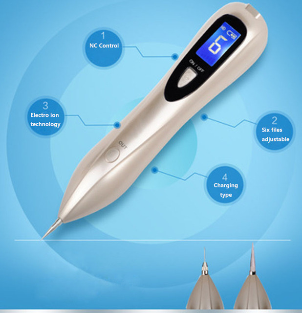 Newest Laser Plasma Pen Mole Removal Dark Spot Remover LCD Skin Care Point Pen Skin Wart Tag Tattoo Removal Tool Beauty Care 3