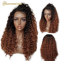 Malaysian Glueless Curly Lace Front Wigs Human Virgin Hair for Women Bleached Knots with baby hair 8 26 inch 150% Density 1b 30