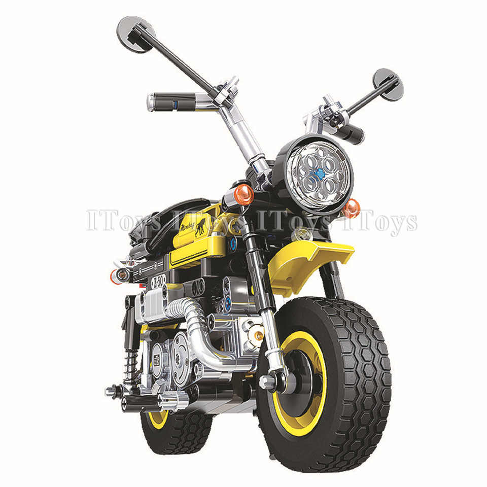 Motorcycle Compatible With Legoing Technic City Motorcycle Model Building Blocks 402 pcs Bricks Toys For Children