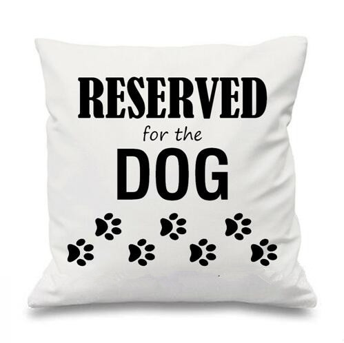funny reserved for dog pillows cases decorative cushions covers cute dogs puppy pet fawn gifts dog paw home sofa decor 18 x18