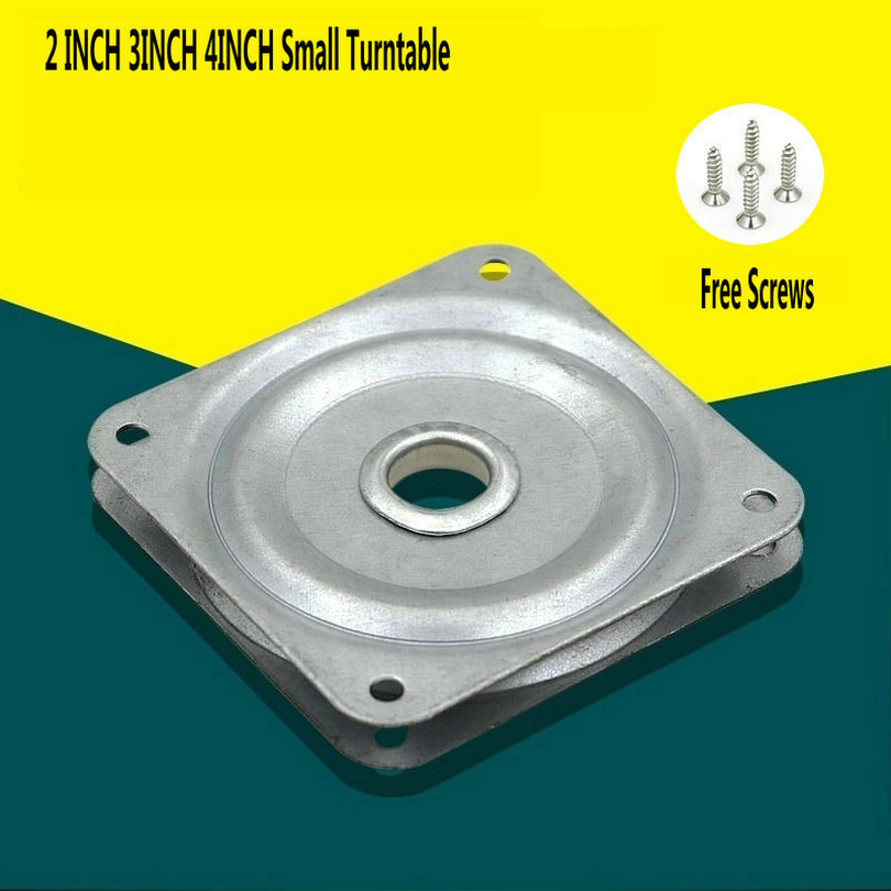 HQ 2/3/4 INCH SMALL Solid Swivel Plate Silver Color 360 Degree Rotation Square Lazy Susan Display Stand Small Turntable