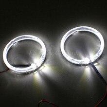 10W LED Light conducting angel eyes Cr.ee LED angel eye headlight halo ring kit for BMW 80mm  White/blue pair 7 inch round led headlight white halo angel eye
