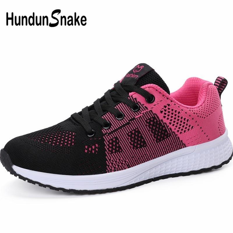 Hundunsnake Mesh Women's Running Shoes Woman Sport Sneakers Female Shoes Sports Summer Footwear Black Tennis Train Trainer B-062