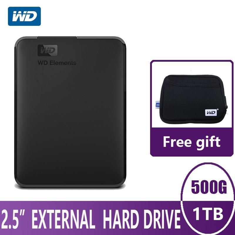 WD Elements Portable External Hard Drive Disk HD 500G 1TB High capacity SATA USB 3 0