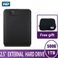 WD элементы портативный внешний жесткий диск HD 500G ТБ высокоемкий SATA USB 3,0 устройство хранения для ПК компьютера ноутбука