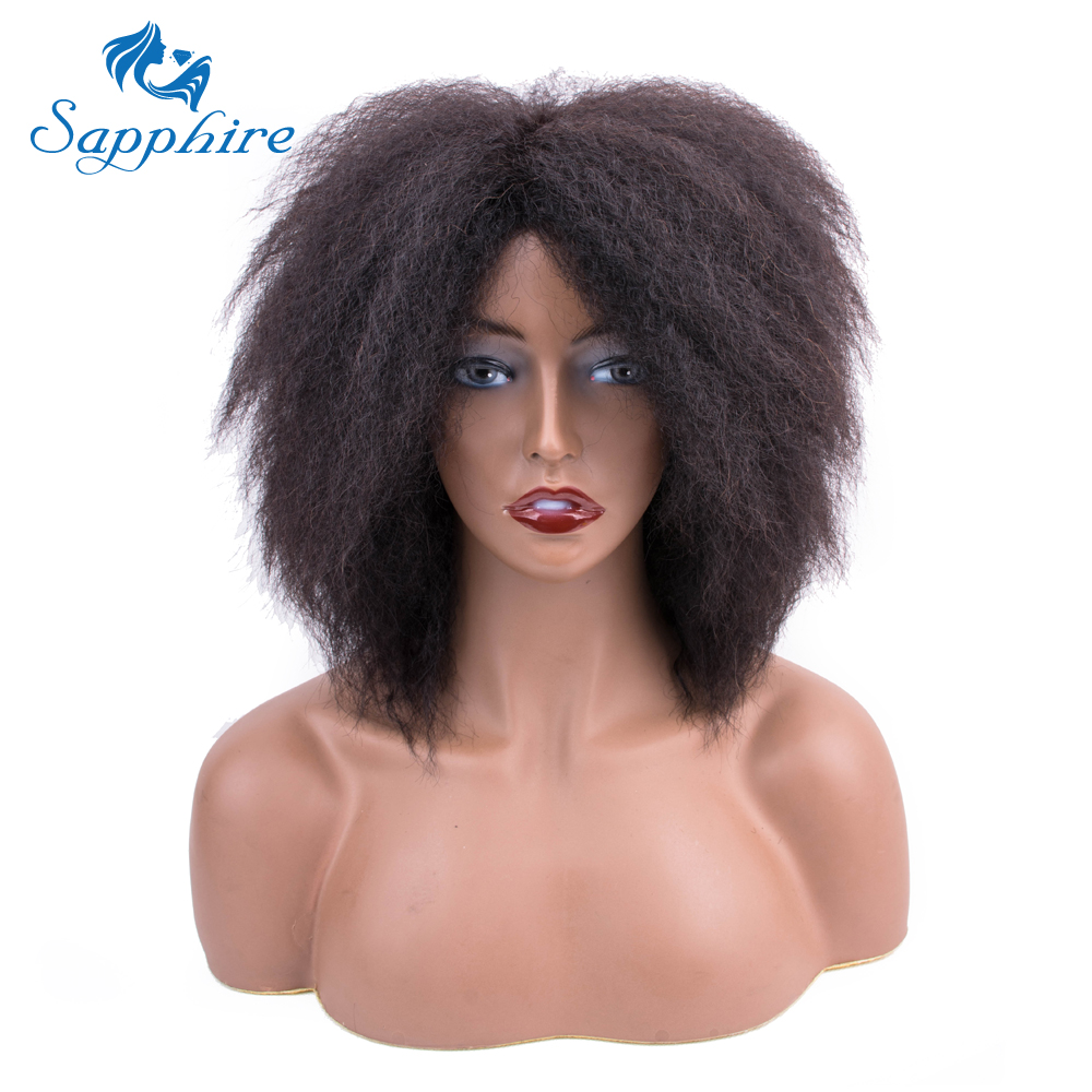 Sapphire Lace Front Human Hair Wigs For Black Women Brazilian Afro Kinky Curly Human Hair Wig