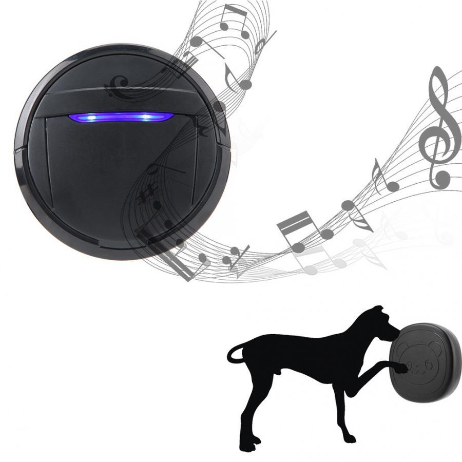 Wireless Waterproof Touch Button Alarm Pet Dog Training Door Bell Emergency SOS Caller Smart Doorbell 0-110dB 5 Level Adjustable-1