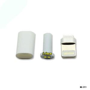 Image 3 - Cltgxdd溶接タイプ8ピンオスプラグusbコネクタアダプタコンバータ用iphone 5 5 s 6 6 s 7 8プラス