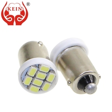 KEIN 100PCS Ba9s LED Bulb T4W 3020 8SMD led car auto 12V Reading Dome Trunk Interior License Plate Vehicle Signal Light Lamp red 43mm 3020 smd 15 led car led interior dome festoon vehicle reading light car led lamp parking bulb 12v