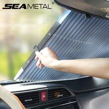 Upgarde cortina de proteção uv, para brisa frontal automotivo, janela traseira, viseira para suv, caminhão 46cm/65cm/70cm/80cm