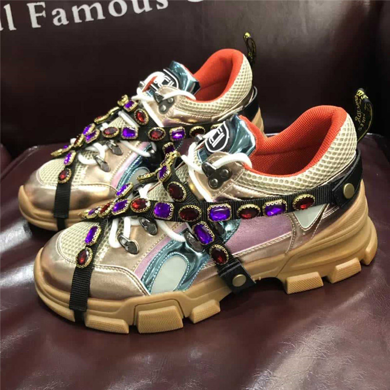 EARTH STAR Casual White Shoes Crystal Brand Platform Sneaker Lady Fashion  chaussure Breathable Female Autumn footware Rhinestone-in Women s Vulcanize  Shoes ... 04681b1161c1