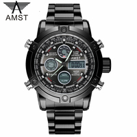 Male Fashion Sport Military Wristwatches 2017 New AMST Watches Men Luxury Brand 5ATM 50m Dive LED