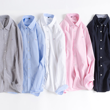Aoliowen New long sleeve solid color striped oxford men shirt  Comfortable high quality 100%cotton men casual Business shirt 5XL