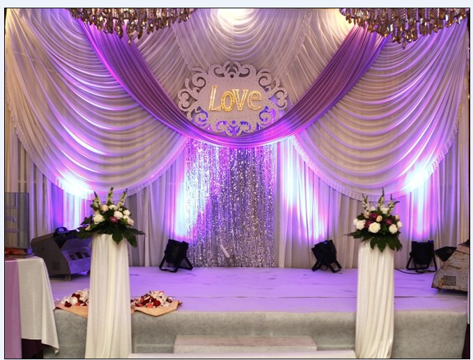 20ft10ft Wedding backdrop with swags event and party fabric beautiful wedding backdrop curtains