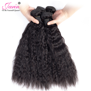 Image 3 - Extensiones de cabello liso rizado peruano, de 1 a 3 a 6 a 9 Uds., pelo ondulado, pelo humano grueso Yaki 100%, Remy Janin, venta al por mayor