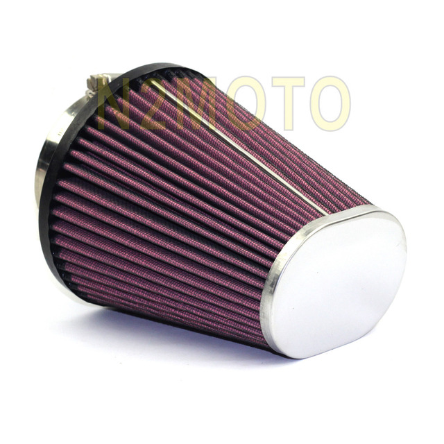 high flow red air filter element oval tapered rc 3680 for harley davidson road king glide. Black Bedroom Furniture Sets. Home Design Ideas