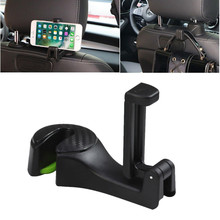 Hanger Hook Cell-Phone-Holder Seat-Back Car-Headrest Tooll Auto 2-In-1 Stand-Clip