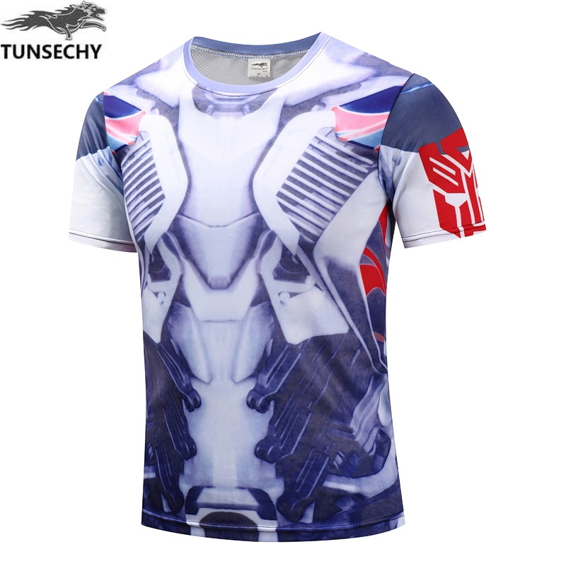 TUNSECHY Superheroes batman avengers captain America round collar short sleeve T-shirt Captain America Clothing XS-4XL