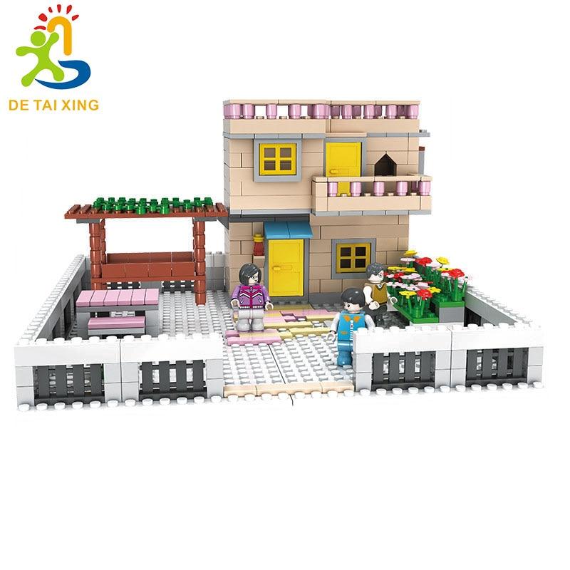 Hot Selling Mini Country house Legoe Building Blocks 499pcs Bricks Toys For Children  Model Toys Marvel Compatible Legoe lepin city town city square building blocks sets bricks kids model kids toys for children marvel compatible legoe