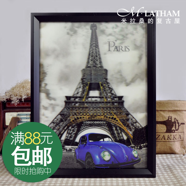 New arrival box art decoration wall stickers hd 3d stereoed