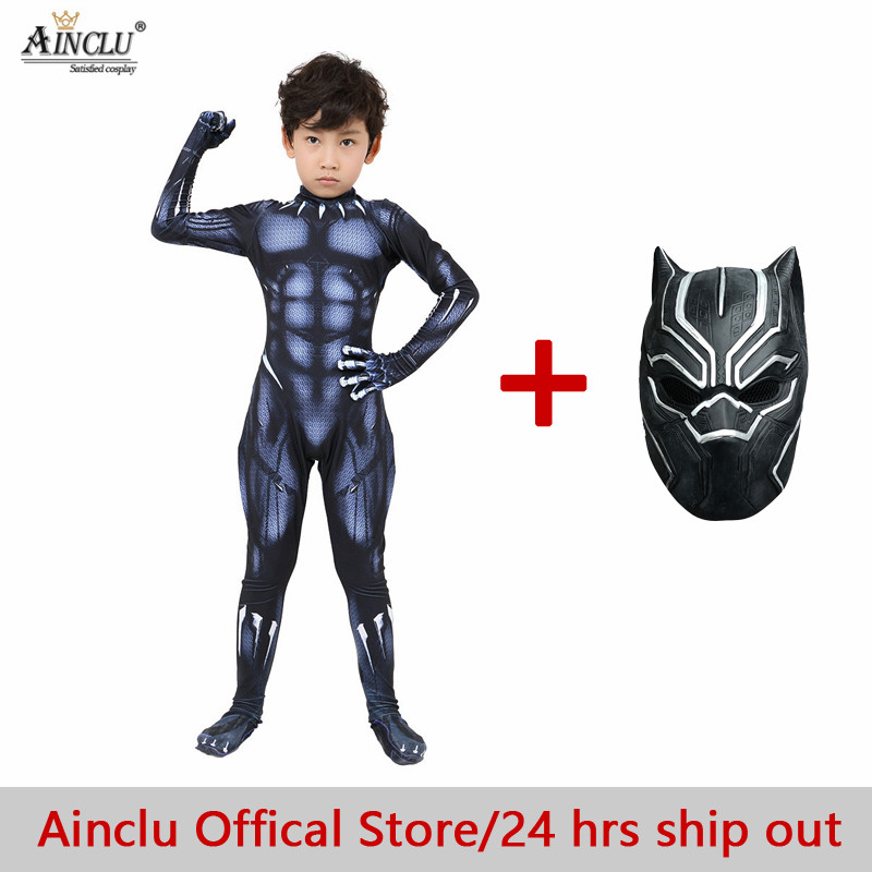 Black Panther Costumes Kids/Adults T'Challa Costume Captain America Civil War Movie Black Panther Halloween Costume