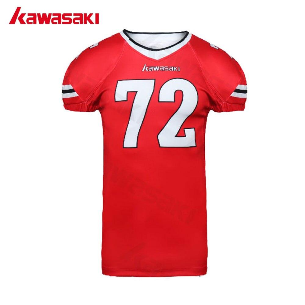 8b9ee2f90d Marca kawasaki Prática Profissional Personalizado Futebol Americano Jerseys  de Treinamento Homens Quick Dry Camisa De Futebol Camisas em América Camisas  De ...
