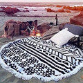 Round Hippie Tapestry Beach Throw Roundie Mandala Towel Mat Bohemian for Outdoor Activities Au22