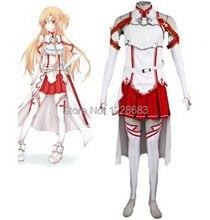 Женский костюм аниме косплей одежда меч искусство онлайн косплей в наличии размеры S, M, L, XL