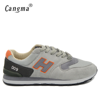 CANGMA Brand Men Casual Shoes Spring Autumn Breathable Shoes Men Black Gray Mesh Lace Up Male