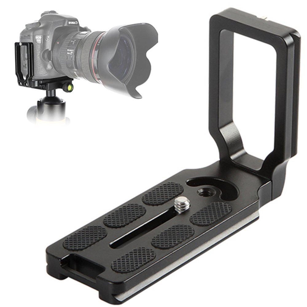 Quick Release Plate L Bracket for Benro Arca Swiss / Markins / Photoclam / RRS Type Tripod Ball Head Mount Rapid Connect Adapter