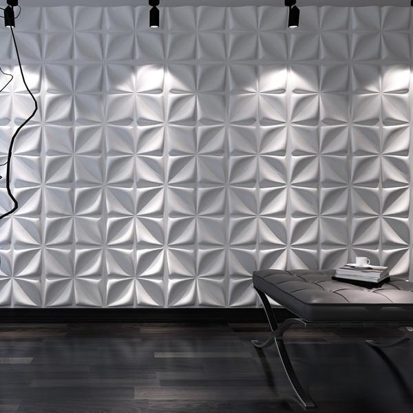 Paneles de pared decorativos de fibra vegetal en 3D Cornus Angustata - Decoración del hogar