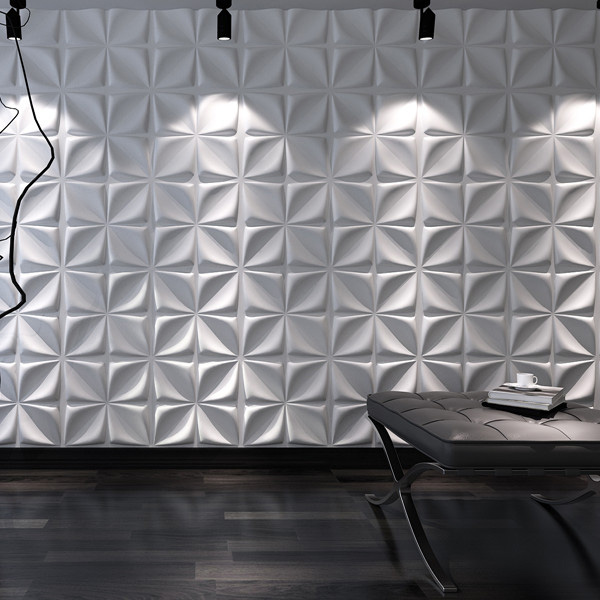 Decorative 3D Wall Panels Cornus Angustata Design Pack of 12 Tiles ...