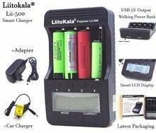 Liitokala lii500 LCD Cargador de 3.7 V 18650 26650 18500 18640 Baterías de Litio Cilíndrica, 1.2 V AA AAA NiMH Cargador de batería