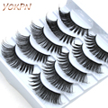 Handmade False Eyelashes Eyelash Natural Lengthened Thick Cotton stems False Eyelashes Quality Silk Fiber Makeup False Eyelashes