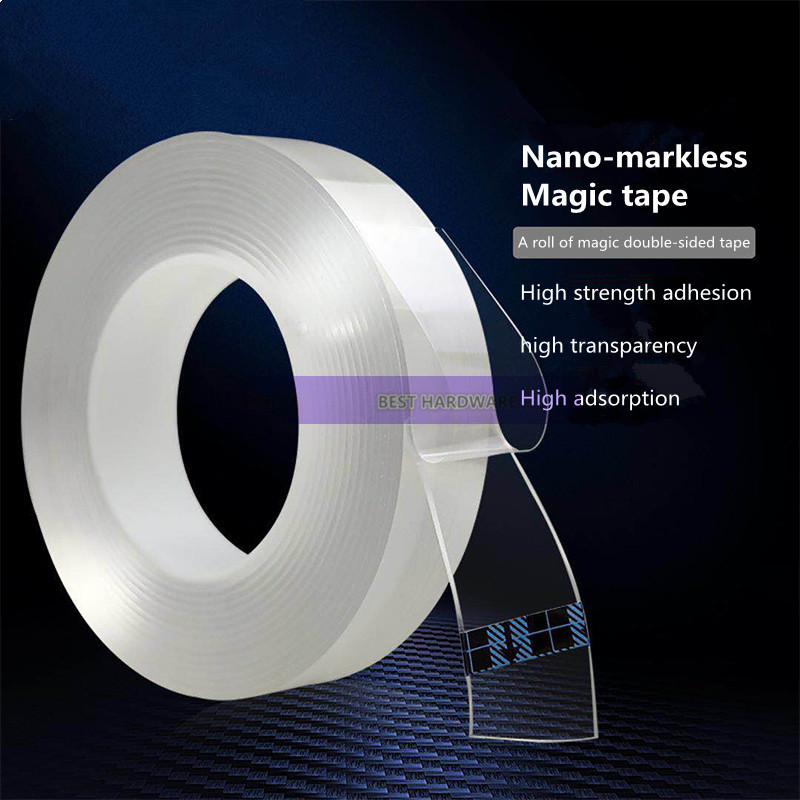 Nano-free magic double-sided tape strong ultra-thin transparent without leaving double-sided adhesiveNano-free magic double-sided tape strong ultra-thin transparent without leaving double-sided adhesive