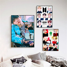 Kpop BTS Korea Singers Figures Posters And Prints Wall Art Canvas Painting For Living Room Decoration Home Decor Unframed