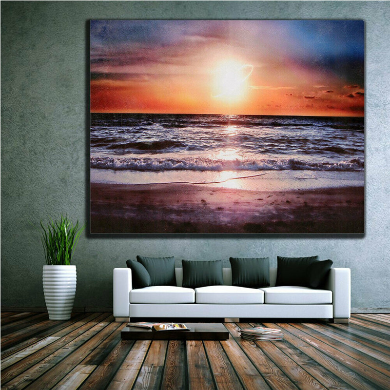 NEW MODERN CANVAS WALL ART LARGE QUALITY ABSTRACT  PRINTS  PICTURE SUNDOWNER 2