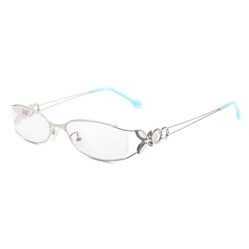 Kupu-kupu Paduan Elegan Wanita Kacamata Bingkai Kacamata Vintage Yang - Aksesori pakaian - Foto 2