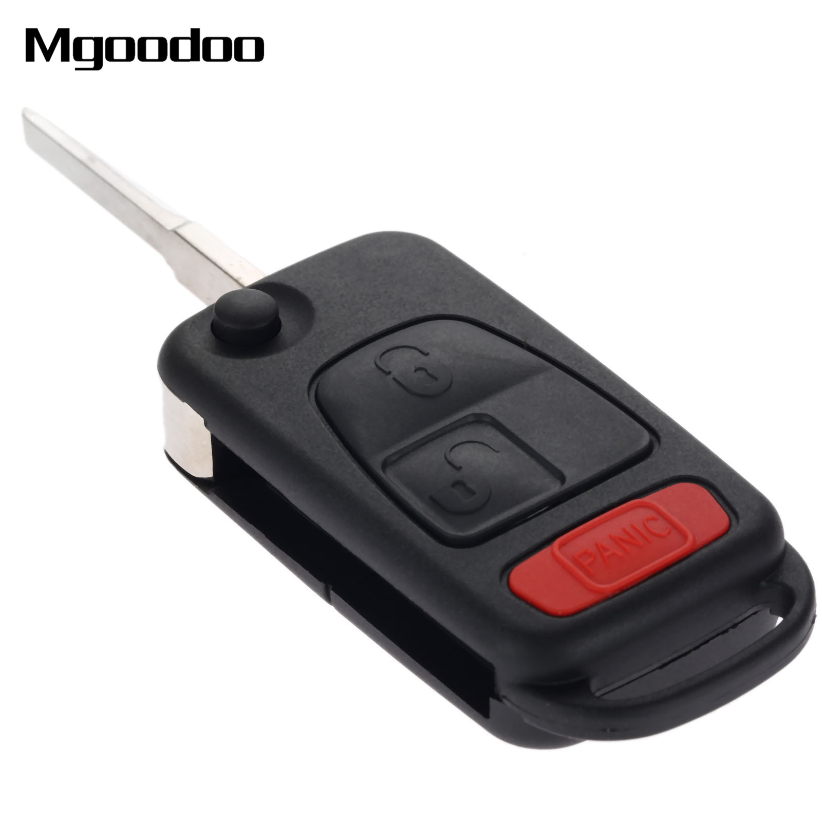 Mgoodoo 2 1 Button Folding Replacement Fob Entry Remote Flip Key Way Switch Shell Case For Mercedes Benz Slk230 Slk320 Slk32 Amg Car Covers In From Automobiles