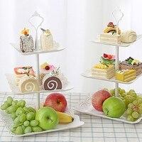 Europa bandeja de plástico servindo bandeja de bolo carrinho traydessert bandeja quadrada bandeja de doces chá festa bandeja de frutas em parte ajudante de cozinha|Bandejas de armazenamento| |  -