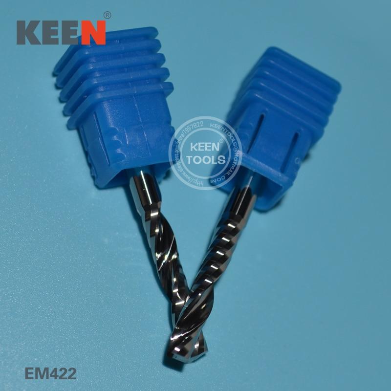 EM422mm Solid Carbide flute spiral bits milling bits cutter for wood metal acrylic cutter of cnc