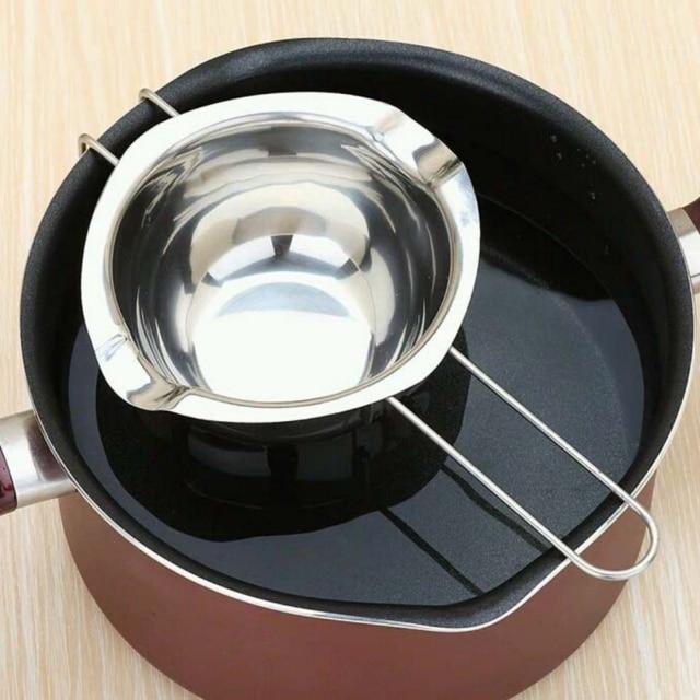Stainless Steel Mangkuk Hot Chocolate Melting Pot Pan Dapur Rumah Ganda Boiler Susu Mentega Mangkuk Dapur Aksesoris
