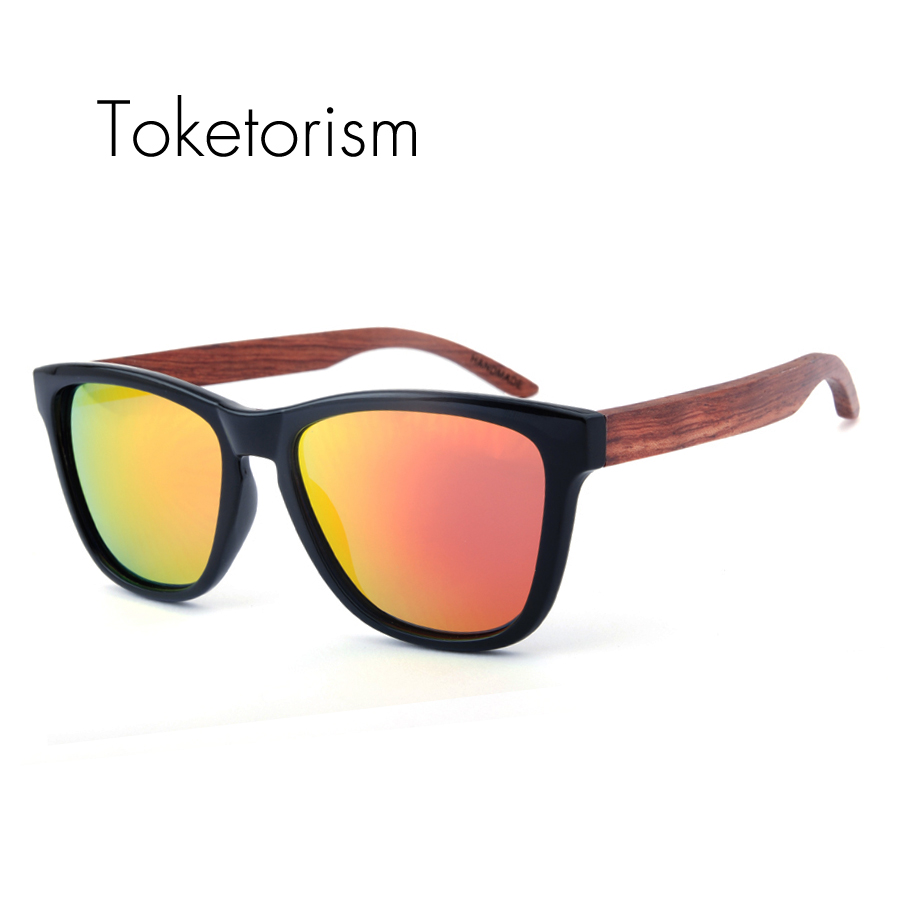 Toketorism Classique réel naturel en bois lunettes de soleil femmes hommes  bois lunettes de soleil polarizadas marque designer 5051 ca08a6163418