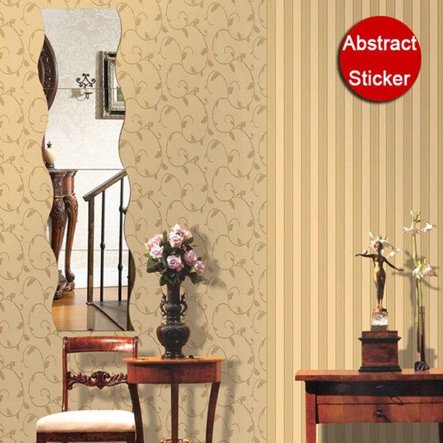 Wavy Dressing Room DIY Acrylic Mirror Stickers Wall Stickers Home ...
