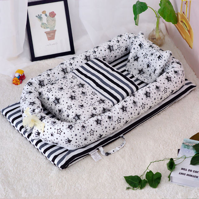 2pcs/3pcs Baby nest bed crib portable removable and washable crib travel bed children's mattress