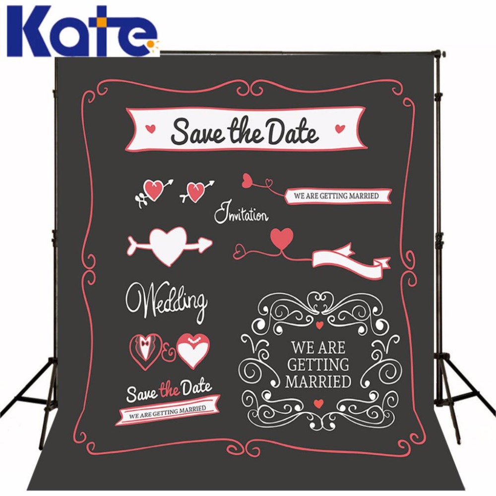 Kate Wedding Background Photography Wedding Backdrops Blackboard for Photo Studio Customise size made fotostudio photocall