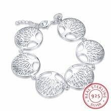 Женский браслет с подвеской Серебряное Ювелирное Украшение